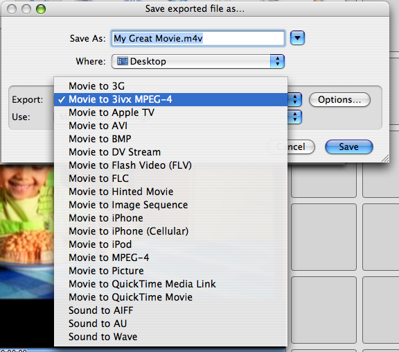 3ivx MPEG-4 5.0.4 - Mac OS - QuickTime Pro - How to export an MP4